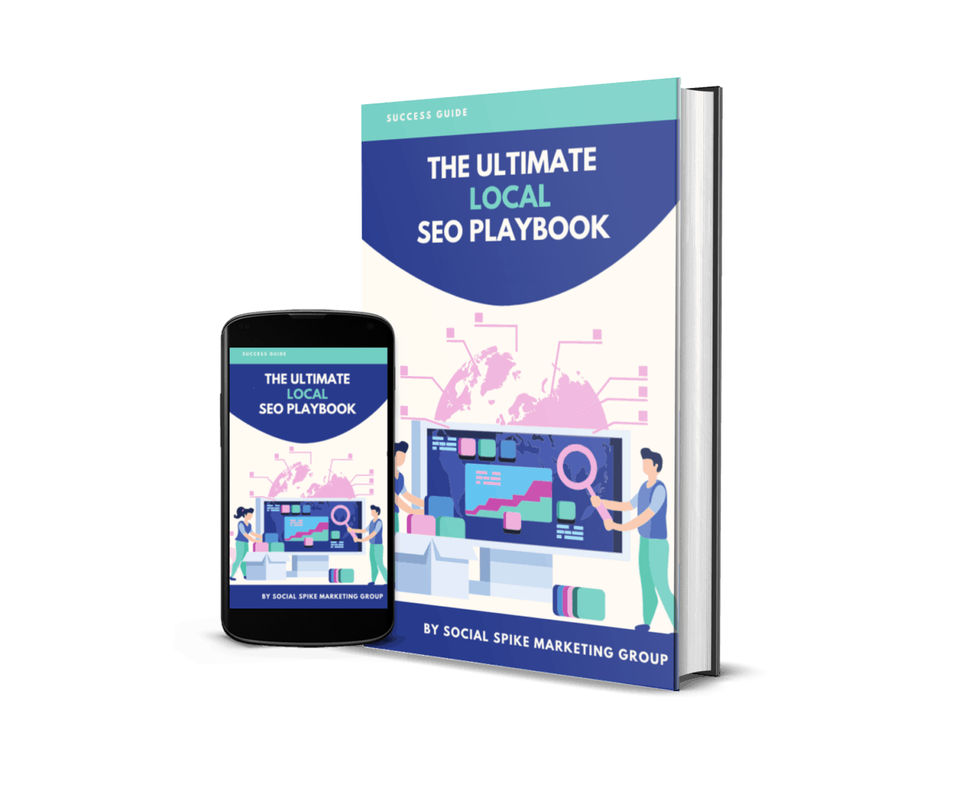 The Ultimate Local SEO Playbook cover by Social Spike Marketing Group