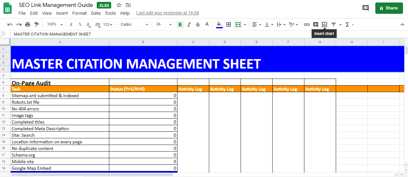 Citation Management Sheet