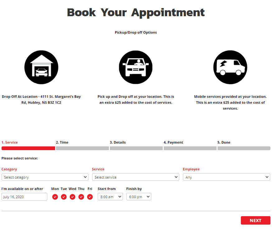 Car Detailing Website Appointment Booking System