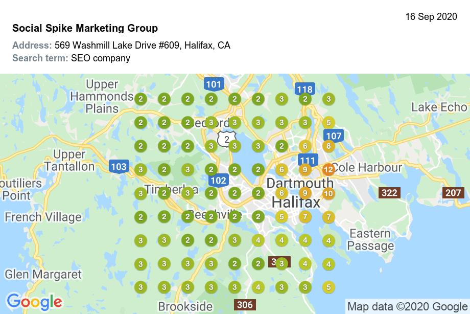 Google my Business SEO Halifax Ranking in Maps